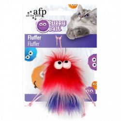 AFP Furry Ball Fluffer, Red - 2801