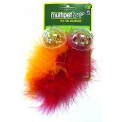 MULTIPET Lattice Ball w/Feather - 2pk-5