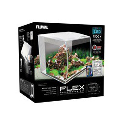 Fluval Flex Aquarium, White, 57L,15gal