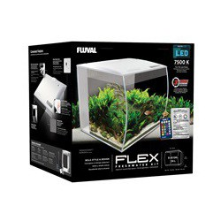 Fluval Flex Aquarium, White, 34L, 9gal