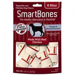 Spectrum Os à Mâcher « Smart Bones » Poulet Mini 8 MCX