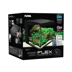 Fluval Flex Aquarium, Black, 34L, 9gal