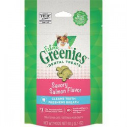 Greenies Salmon complete Dental Treat for cats 2.1 oz