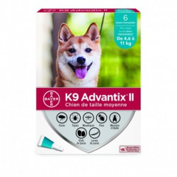 K9 ADVANTIX II M DOG 6DSX X 1.0ml