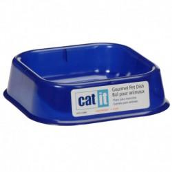 Catit Gour.Lightwgt Kitten Dish,Blue-V