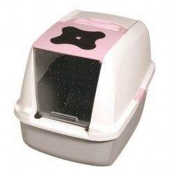 Cat Hooded Cat Litter Pan, Pink-V