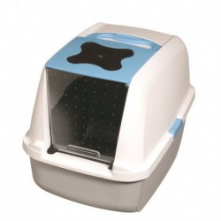 Cat Hooded Cat Litter Pan, Blue-V