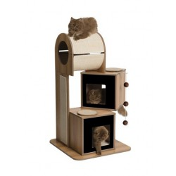Meuble V-Tower Vesper, noyer, 65 x 65 x 117,5 cm