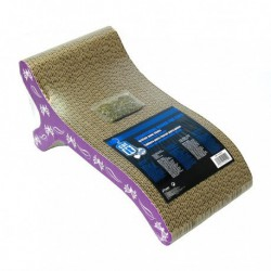 CA Style Scratcher with Catnip, Chaise-V