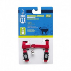 CA Adjustable. Harness, Red,S-V