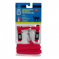 CA Aj. Harness and Leash Set, Red, L-V