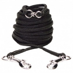 CA Nyl. Tie-out, 6m (20 ft), Black-V