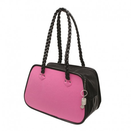 DOSt.Faux Suede Rndd Tote Bag, Pink
