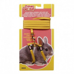 LW Dwarf Rabbit Harness & Lead Set,Yel-V