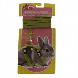 LW Dwarf Rabbit Harness & Lead Set,Grn-V