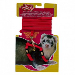LW Ferret Harness & Lead Set, Red-V