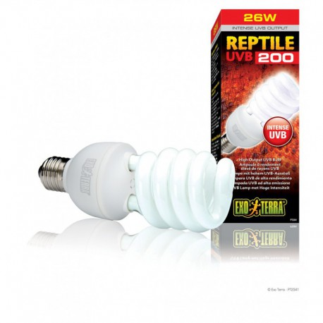 Ampoule Reptile UVB 200 EX, 26 W, 5500 K EXO TERRA Solutions d'éclairage