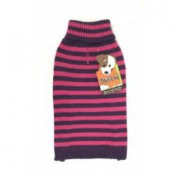 DQ Pink-Purple Stripe Sweater - 14in