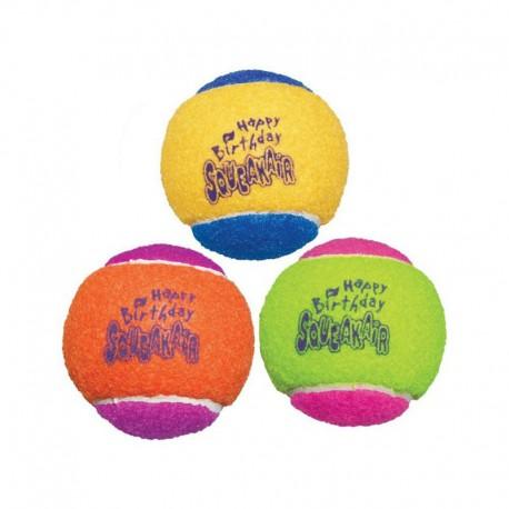 KONG « Squeaker Air » Balles de Fête Moyennes Paquet de 3