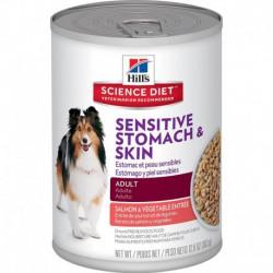 Hill s ScDiet Ad.Sens.Stom.&Skin Salmon & Veg.12,8 oz