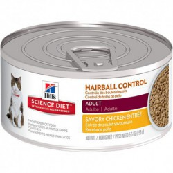 Hill s ScDiet Ad. Hairball Control Chicken Entré HILLS-SCIENCE DIET Canned Food