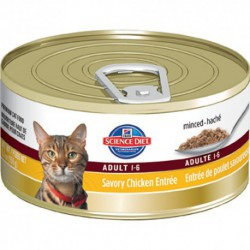 Hill s Science Diet Adult Savory Chicken Entrée HILLS-SCIENCE DIET Canned Food