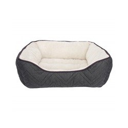 Dogit Dog Rect. Cuddle Bed, Grey-White