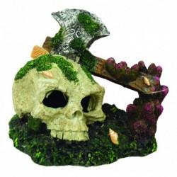 Aquafit Polyresin Skull/axe