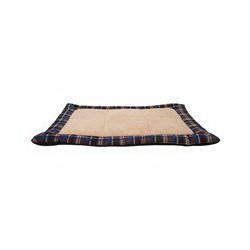 Coussin DO pour dormir, tartan bleu