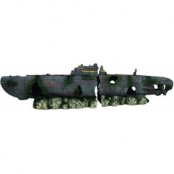 Aqua-Fit Submarine Wreck 16x4x3 in