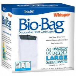PROMO - Oct - WHISPER Bio-Bag Lge 8 pack TETRA Masses Filtrantes