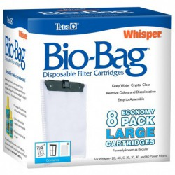 WHISPER Bio-Bag Lge 8 pack