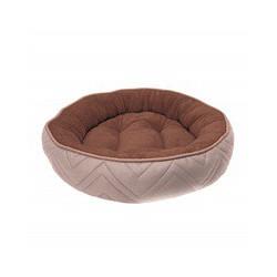 Dogit Dog Round Cuddle Bed, Beige-Brwn