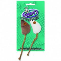 SIMON S Burlap Tail Mice 2pk 2in