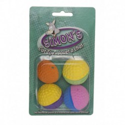SIMON S Two-Tone Sponge Balls 4/Pk