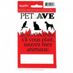 PETSAVE Fire Sticker/FRCH