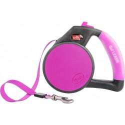 **DISC**WIGZI Gel Leash - Retractable Pink - Med