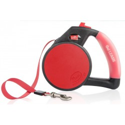 **DISC**WIGZI Gel Leash - Retractable Red - Med