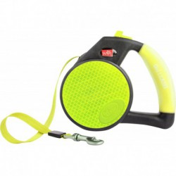 **DISC**WIGZI Reflective Gel Leash - Retractable Yellow - Sm