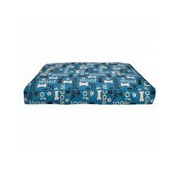Dogit Dog Rect. Mattress Bed,Woof-Blue