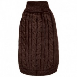DQ Cable Knit Sweater - Chocolate 18in