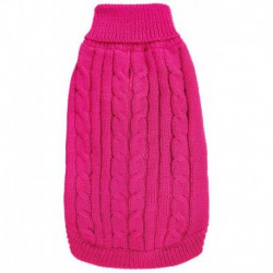 DQ Cable Knit Sweater - Magenta 20in