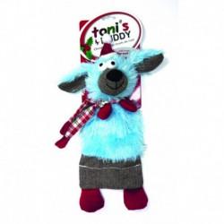 TB Hldy Plsh Snta Sqkr Mat Toy-Dog 14x37cm