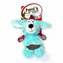 TB Holiday Plsh Santa Dog Toy-Dog 19x26cm