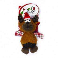 TB Hldy Plsh Snta Dog Toy-Reindeer19x26cm