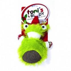 TB Hldy Sm Plush Santa DogToy-Frog17x23cm