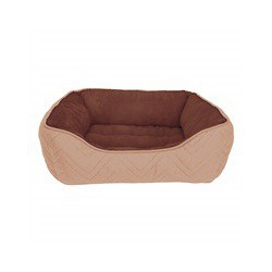 Dogit Dog Rect. Cuddle Bed, Beige-Brwn