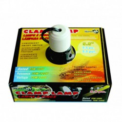 RF Black Dome Clamp Lamp 5.5 in