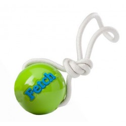 PLANET DOG CHIEN ORBEE BALLE FETCH/CORDE VERT