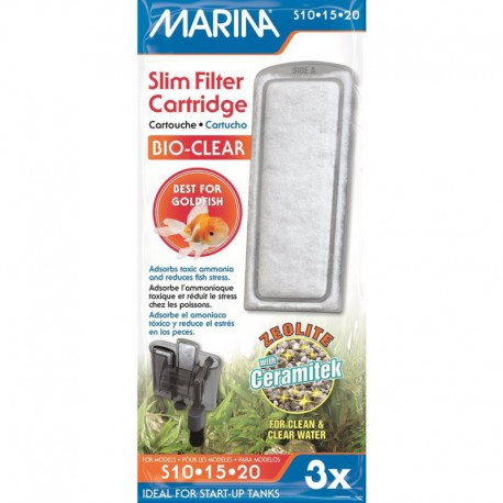 Zeolite pour filtre Marina Slim, paq.3-V